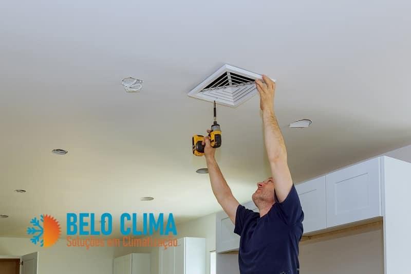 Limpeza de dutos de ar condicionado